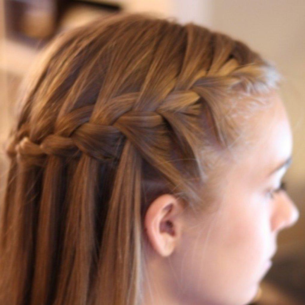 Причёски косы с распущенными волосами