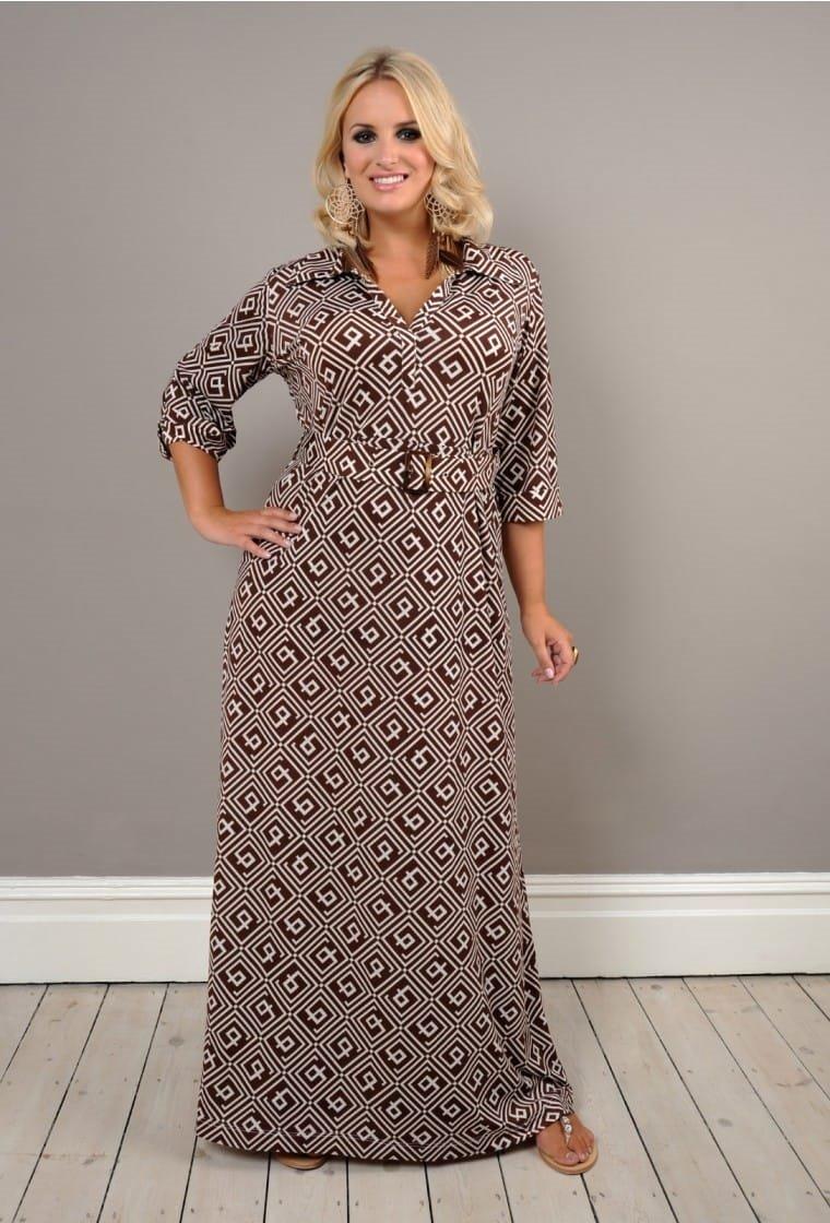 Трикотажное платье большого размера своими руками 69