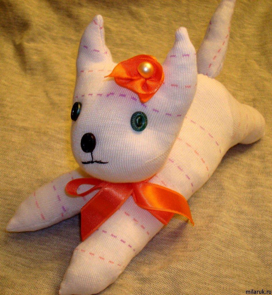 Игрушка из носка своими руками котёнок 57