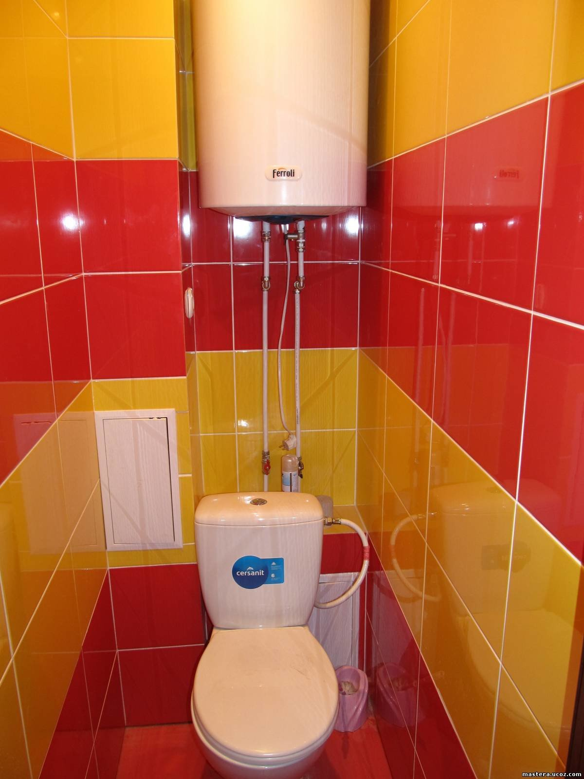 Дизайн туалетов с красным цветом