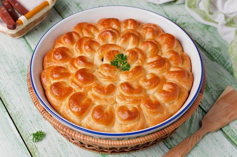 Пирог мясным фаршем рецепт пошаговый