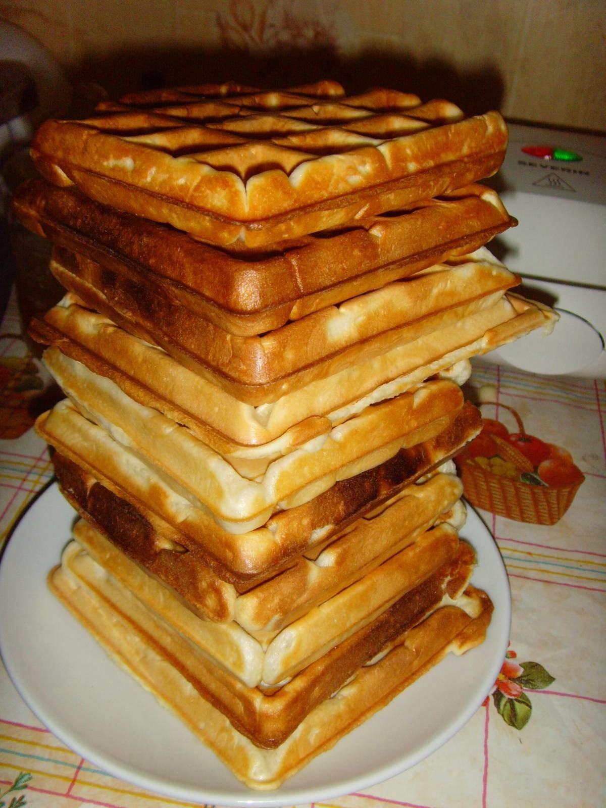 Вафли мягкие на сметане в вафельнице рецепт с пошагово