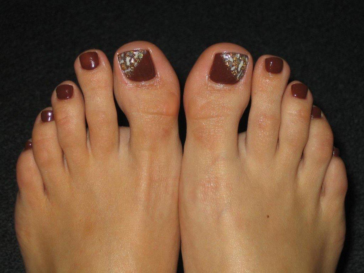 Шеллак на ногах (фото с примерами) - фото и описание примера 42
