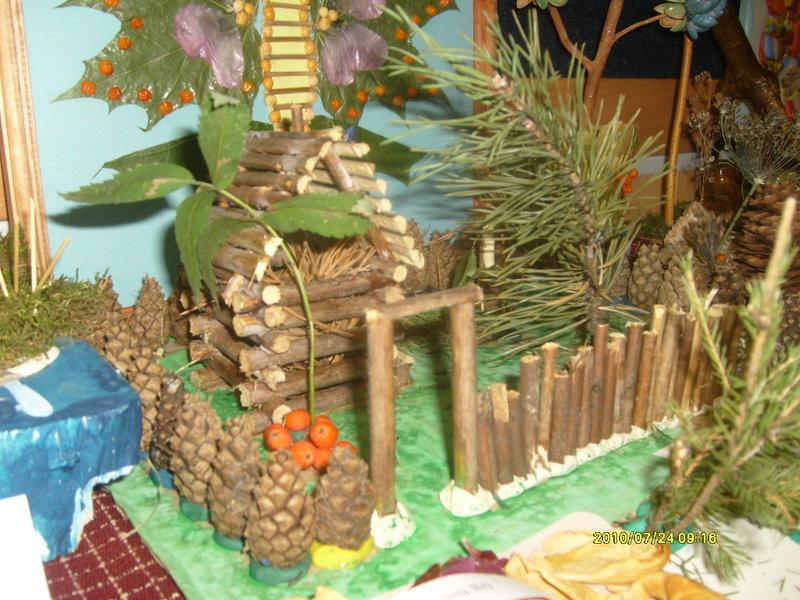 Фото поделки из природного материала в детском саду