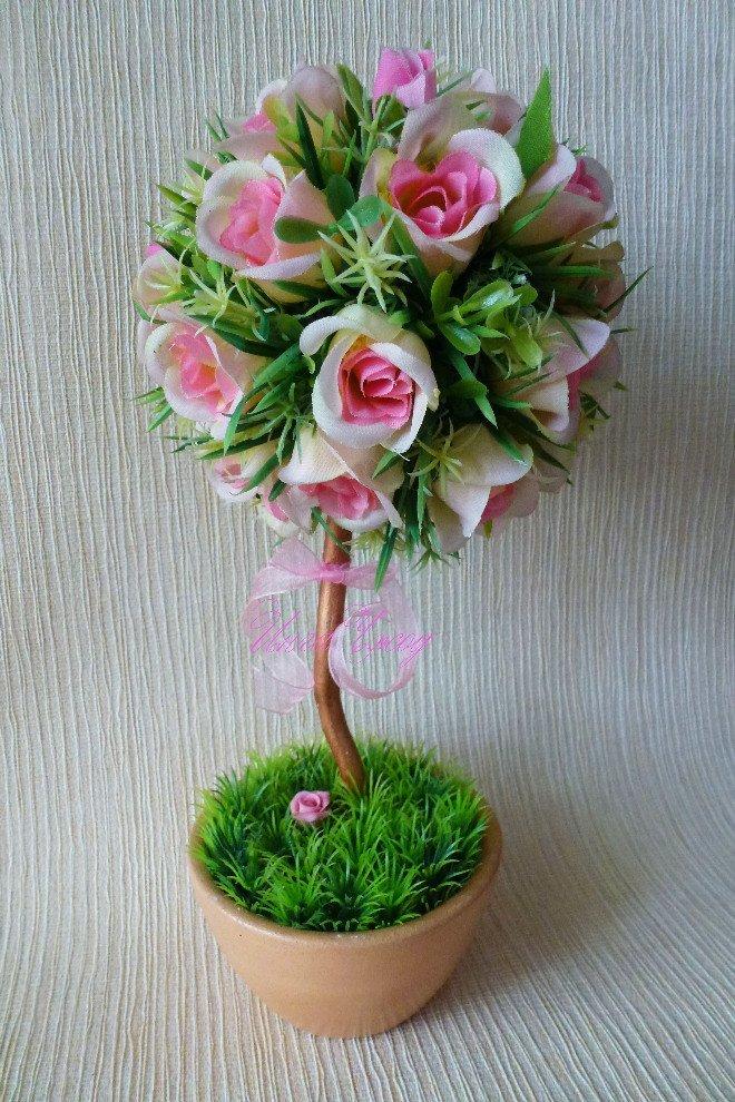 Мастер класс дерево из цветов своими руками 696