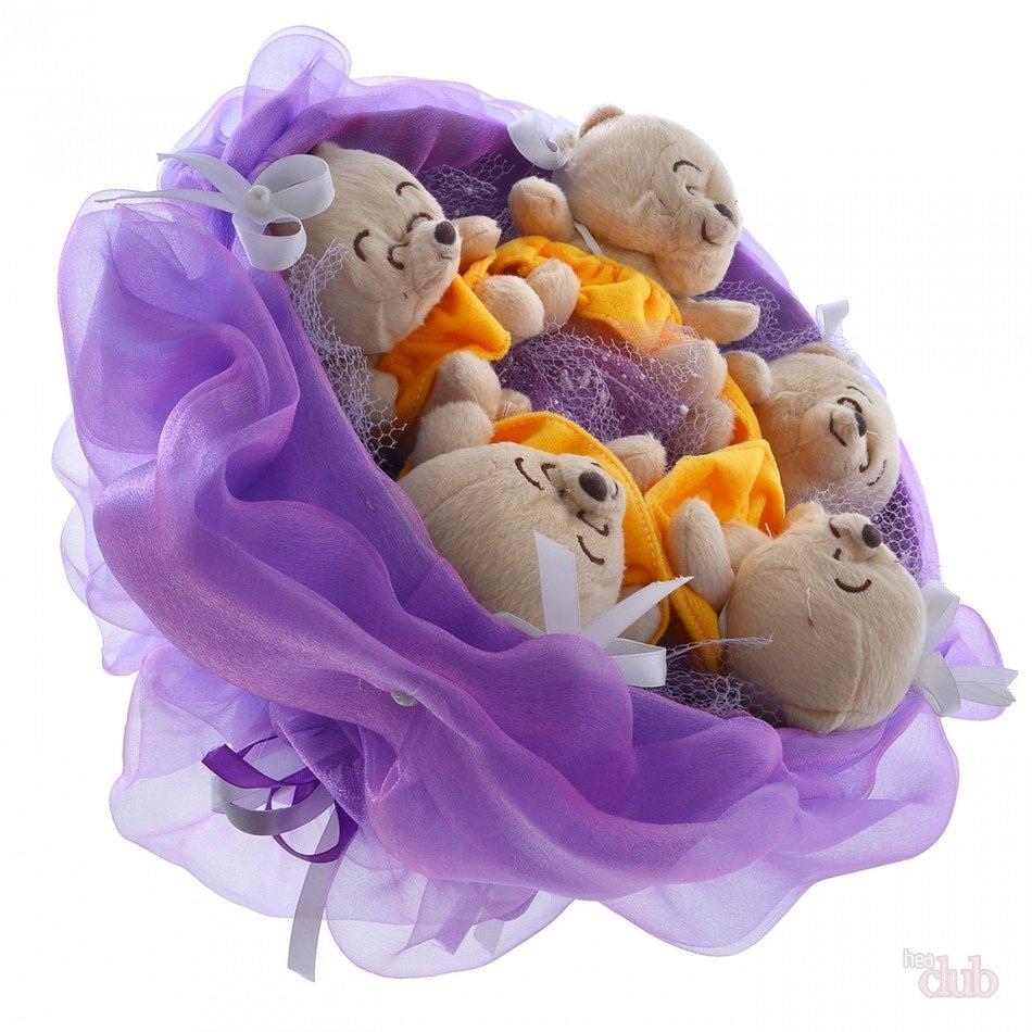 Как сделать букет из игрушки пошаговое фото