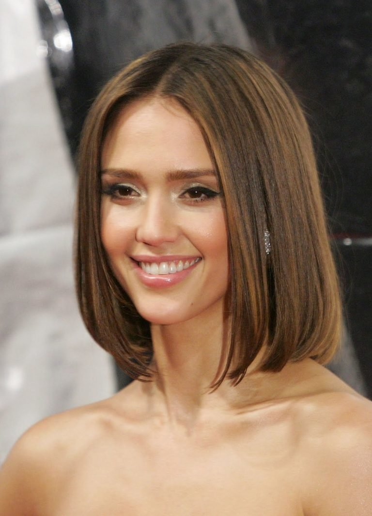 Стрижка на средние негустые волосы