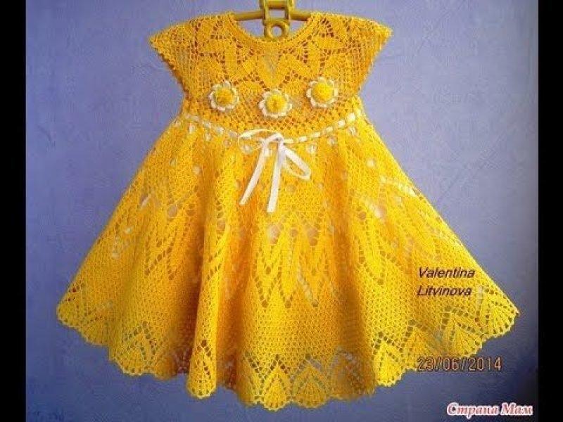Как украсить вязаное платье для девочки своими руками 38