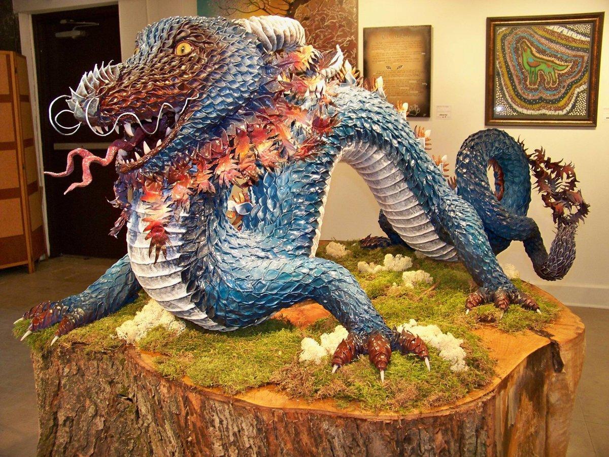 Объемный дракон своими руками как сделать