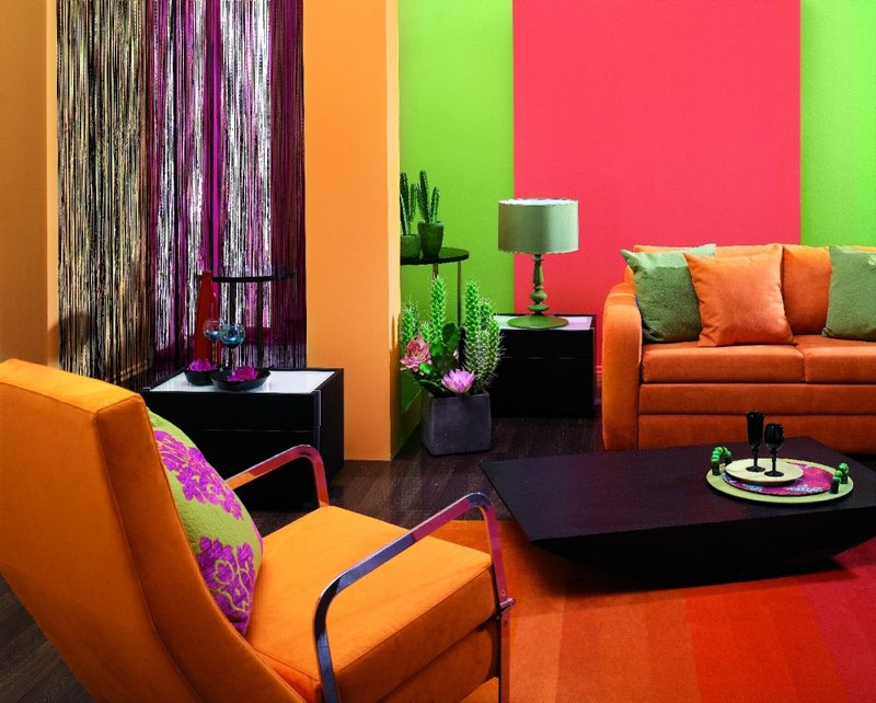 Сиреневый цвет в разных помещениях