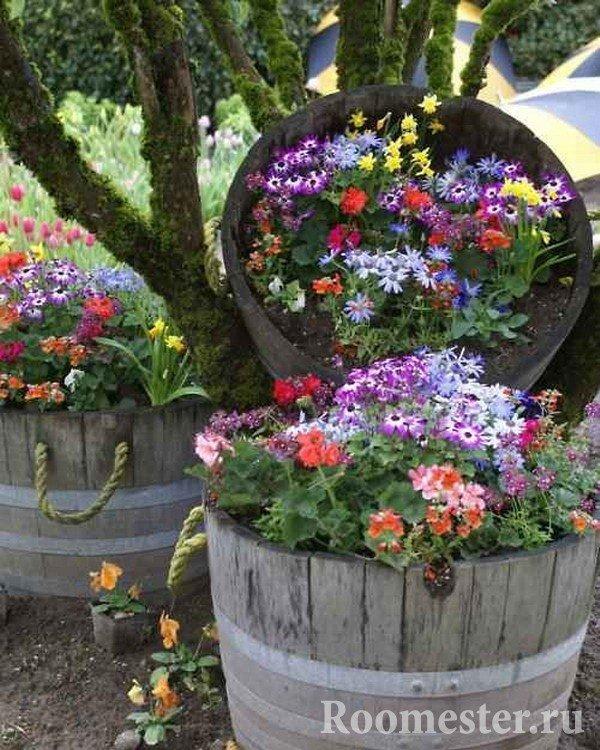 Клумбы для цветов своими руками для дачи