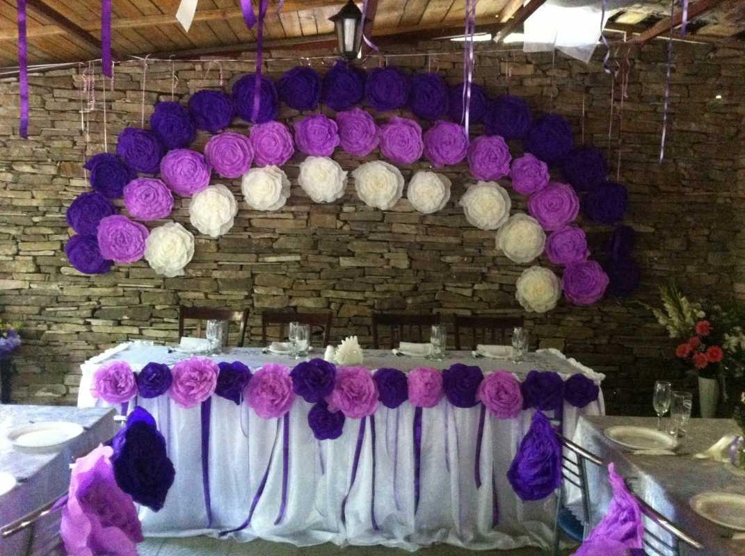 Как сделать большие цветы на свадьбу своими руками 71