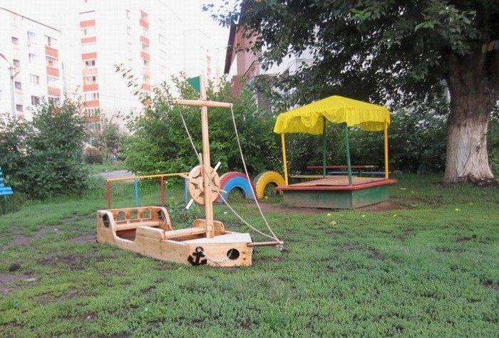 Детский кораблик на детскую площадку своими руками 510