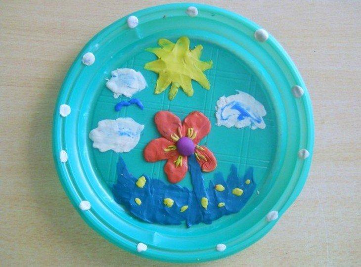 Поделки на пластмассовых тарелках
