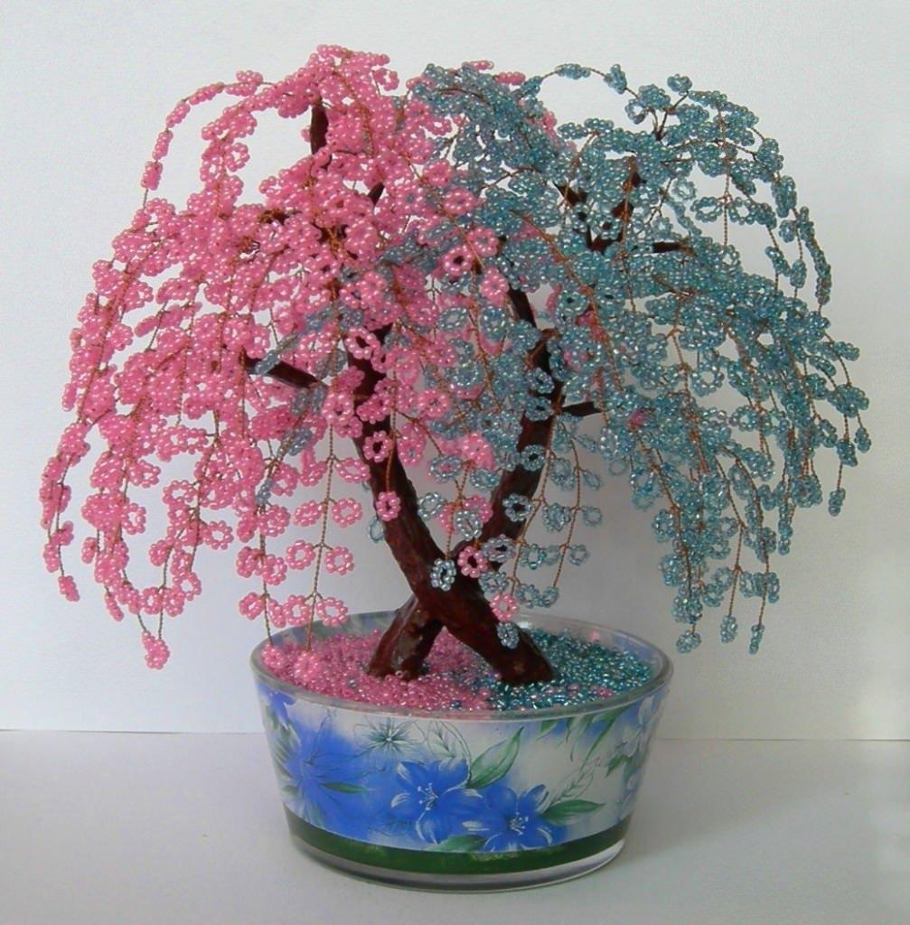 Как сделать деревья и цветы из бисера своими руками