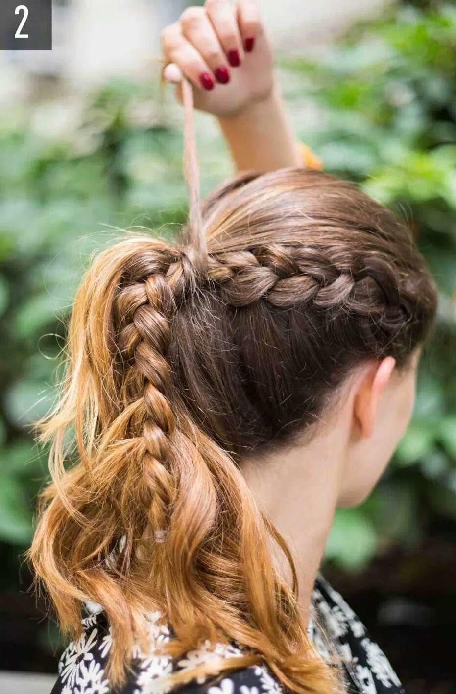 Прически с плетением кос пошаговое фото