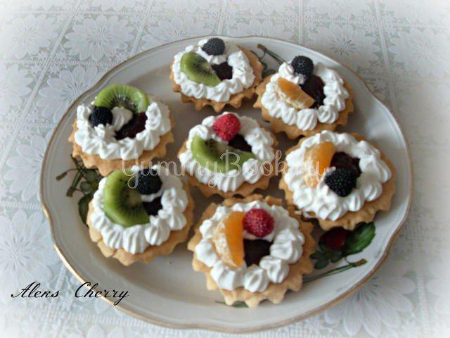 Пирожные корзиночки с кремом рецепт с пошагово