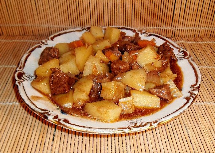 Картошка с мясом по домашнему рецепт
