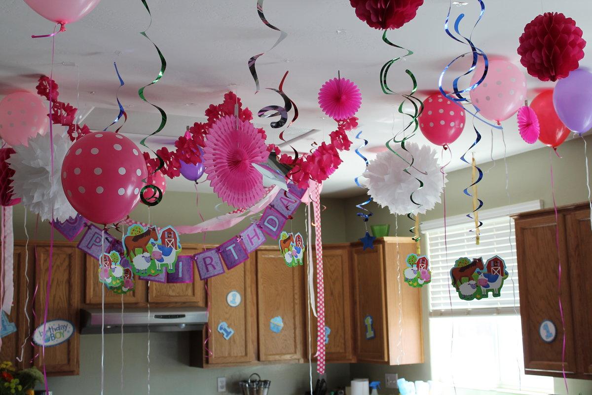 Украшения своими руками комнаты на детский день рождения 91