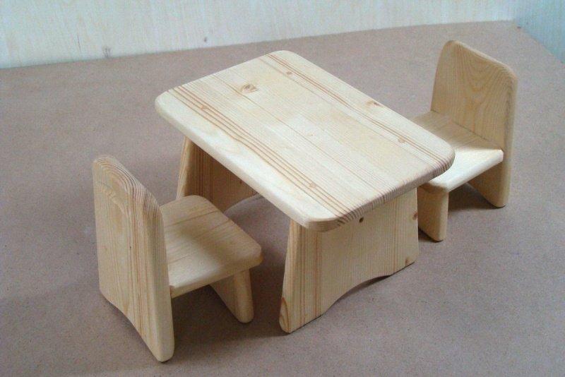 Детский стол из дерева своими руками 77
