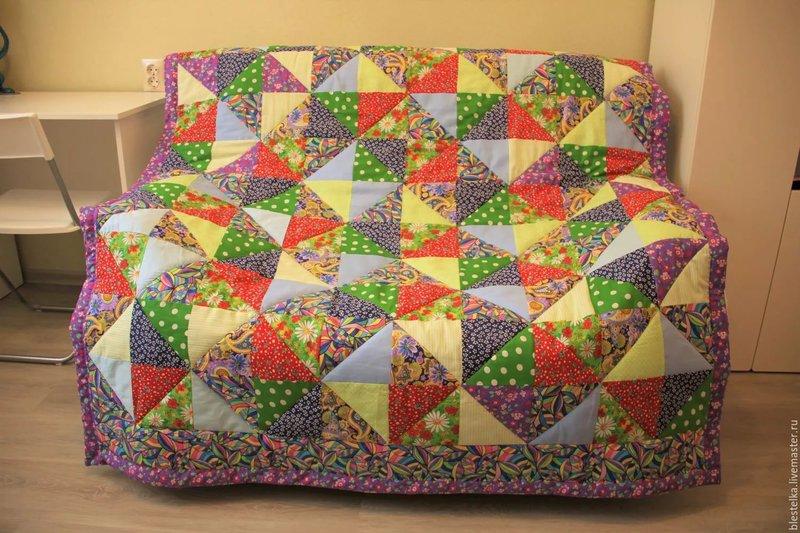 Лоскутное одеяло своими руками для начинающих из квадратов для детей