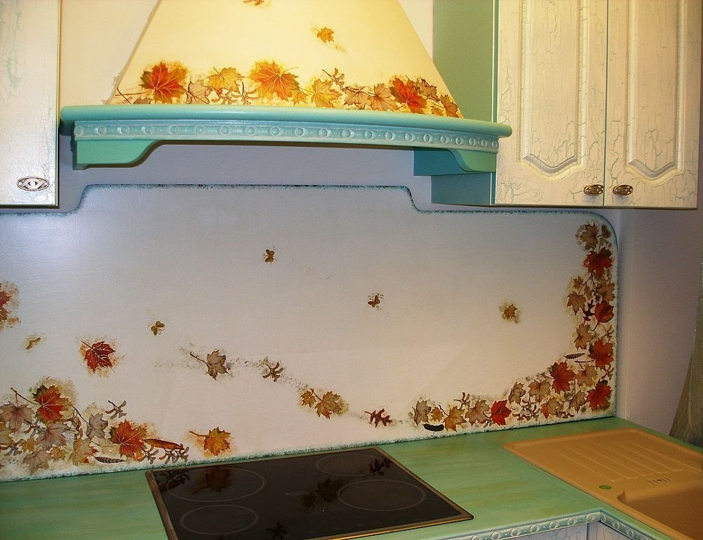 Декупаж кухонной плитки своими руками 89