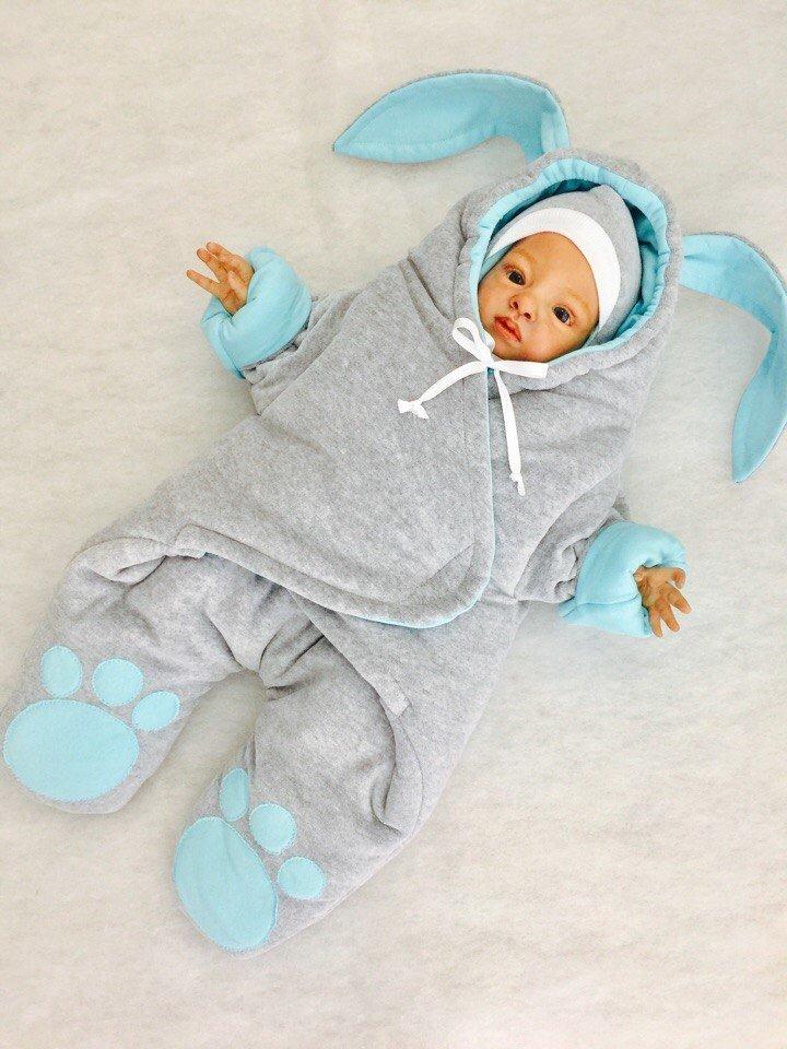 Комбинезон для новорожденного на осень своими руками