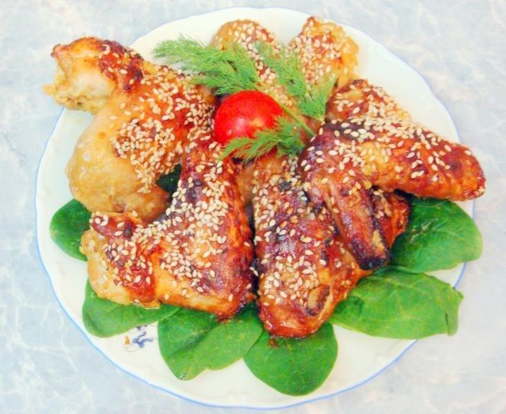 Рецепт крылышек в медово-соевом соусе в духовке рецепт