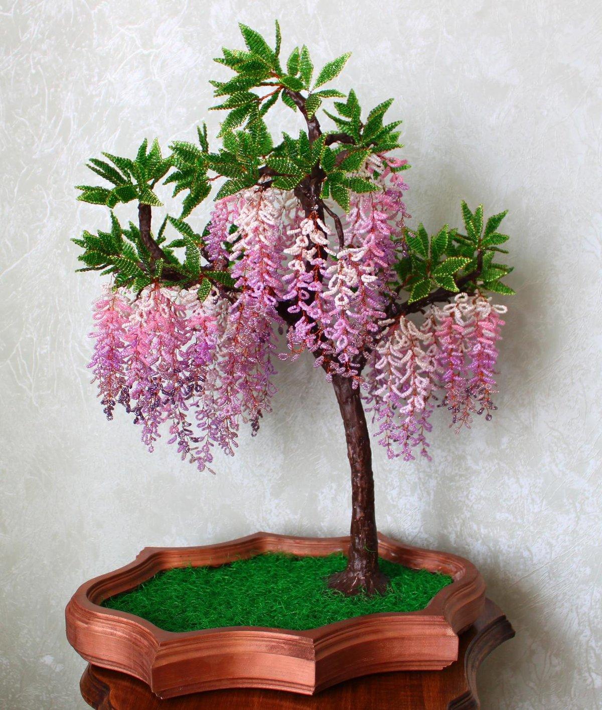 Глициния деревья из бисера своими руками 408