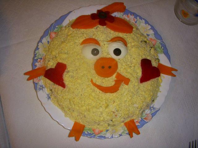 Как украсить салаты на детское день рождения