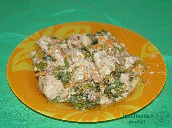 Индейка со сметаной в мультиварке рецепты с фото