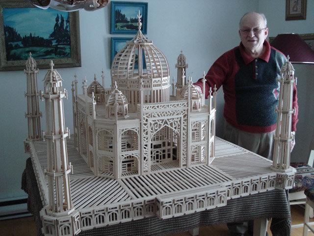 Мечеть из спичек своими руками 13