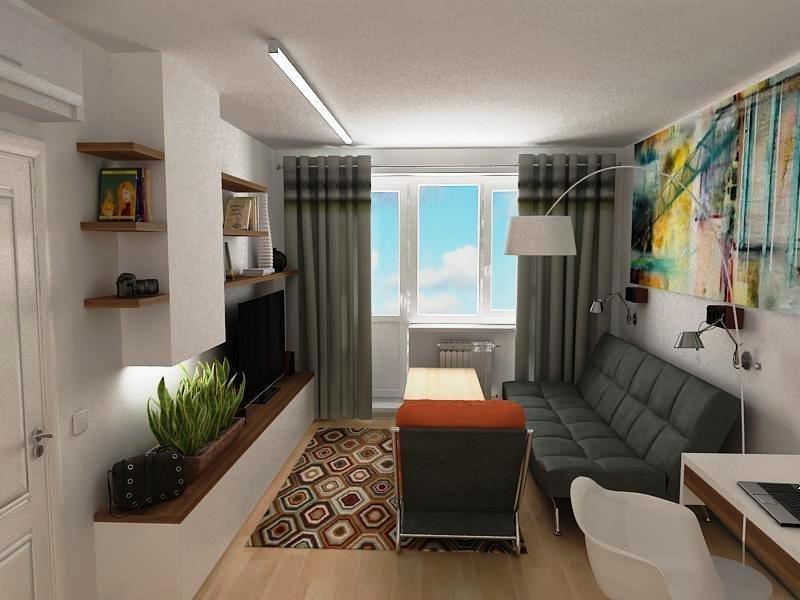 Интерьер двухкомнатной квартиры 45 кв м фото