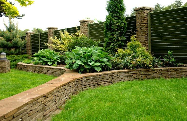 Красивые подпорные стенки в ландшафтном дизайне