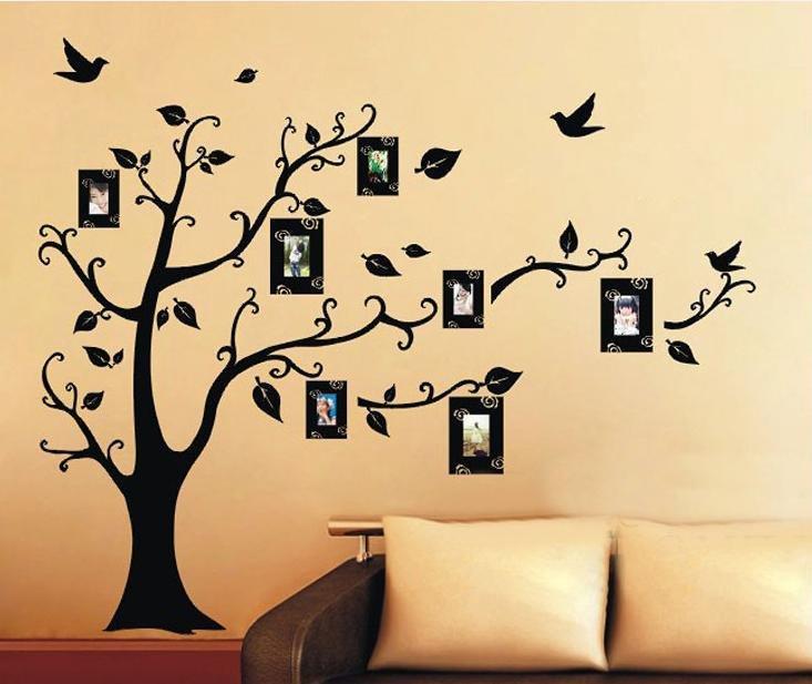 Трафарет для стен своими руками фото дерево 60