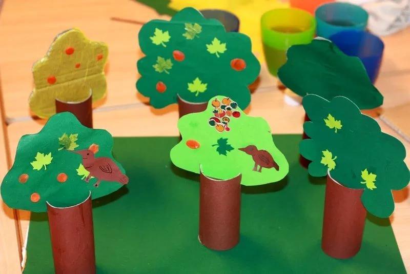 Конструирование дерева из бумаги