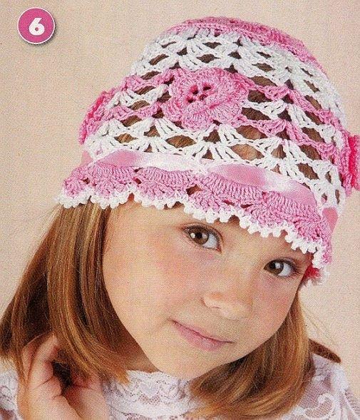 Связать своими руками шапку для девочки 22