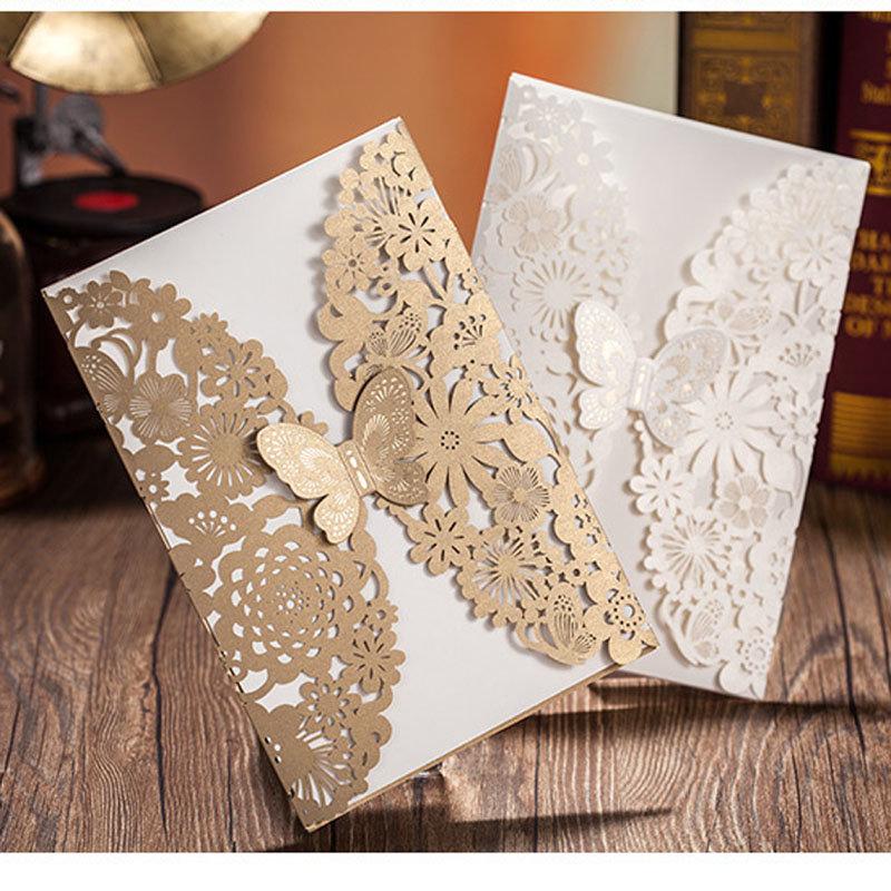 Свадебное приглашение из бумаги