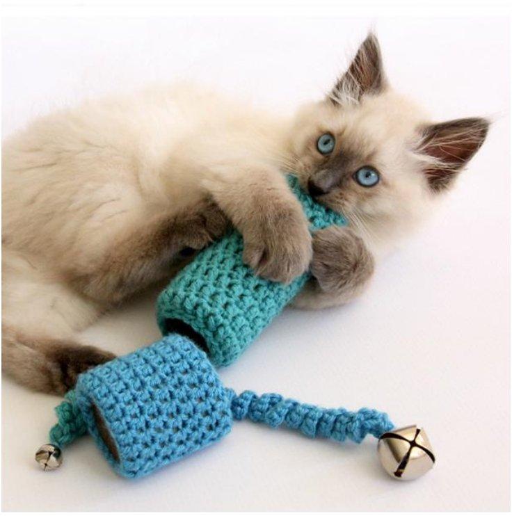 Игрушка для кота своими руками 12