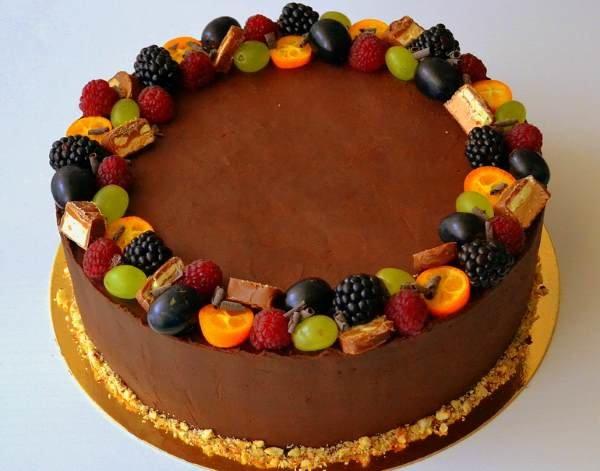 Украшаем торт своими руками фрукты 40