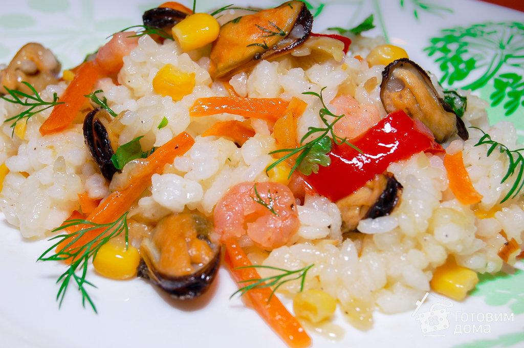 Приготовить морепродукты с рисом рецепт 151