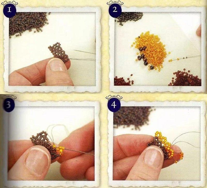 Поделки из бисера для начинающих пошагово с фото