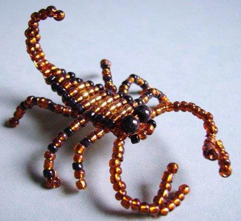 Поделка из бисера скорпион 54