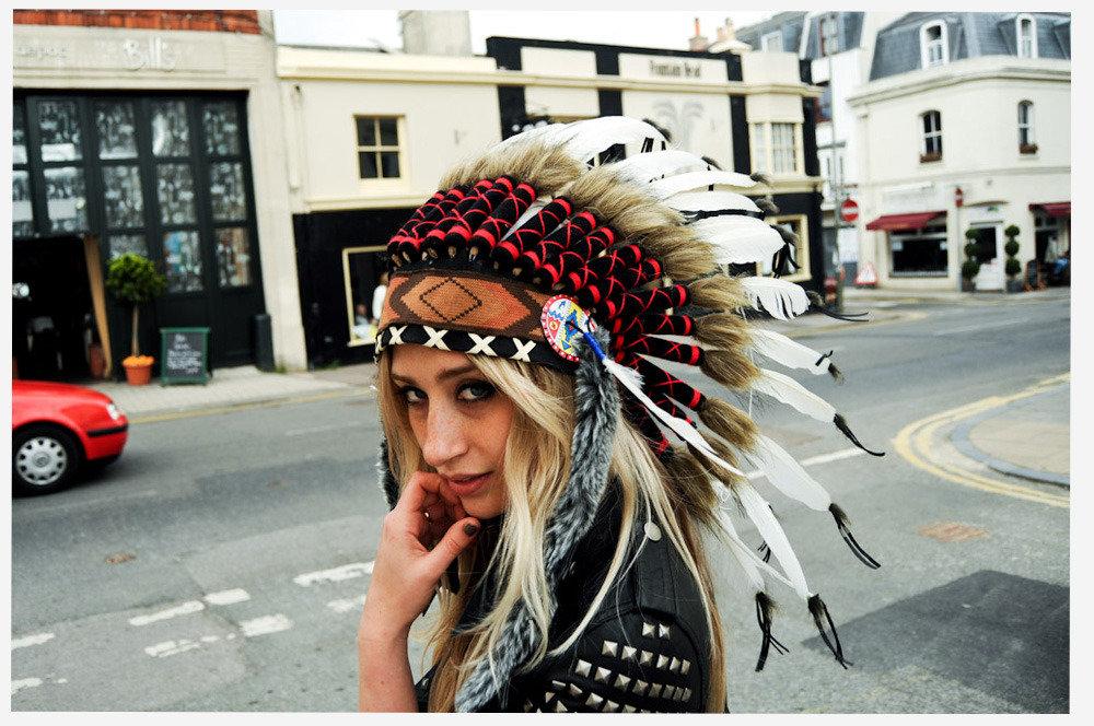 Индейский головной убор из перьев своими руками 15