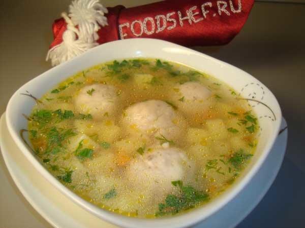 Суп с рисовый с фрикадельками пошаговый рецепт с