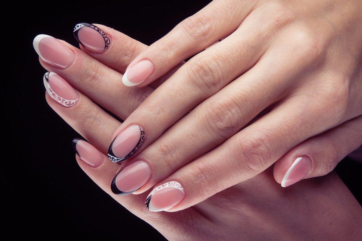 Миндалевидная форма ногтей френч фото новинки