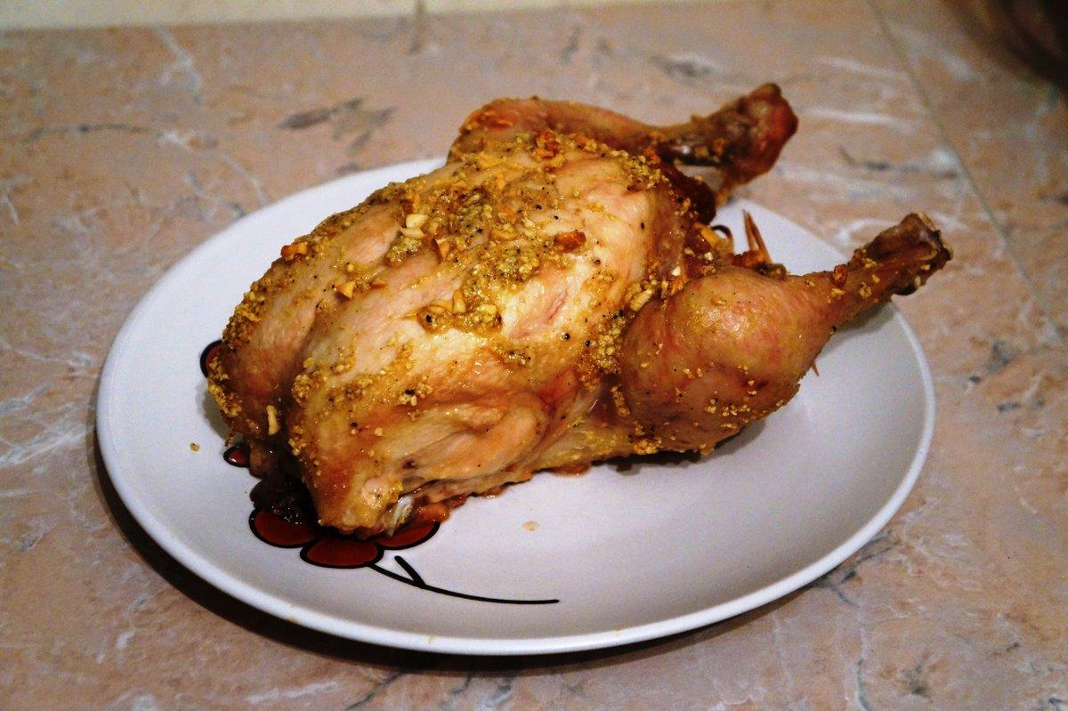 Жареная курица с чесноком рецепт пошагово