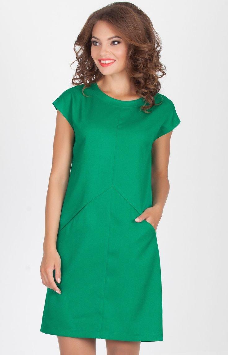 Платье прямое с рукавом сшить 54