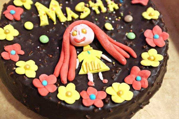 Украшение торта для ребёнка своими руками 8