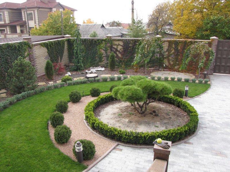 Ландшафтный дизайн кругами